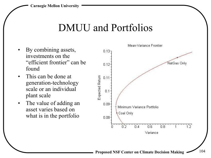 DMUU and Portfolios