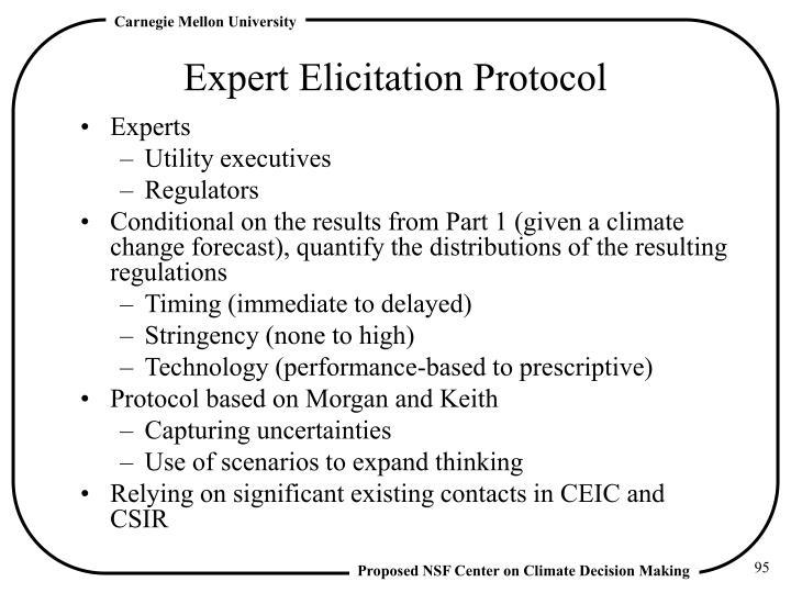 Expert Elicitation Protocol