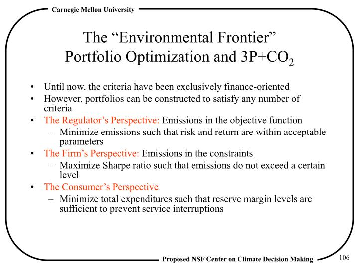 "The ""Environmental Frontier"""