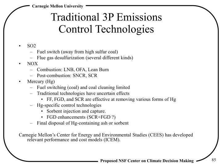 Traditional 3P Emissions