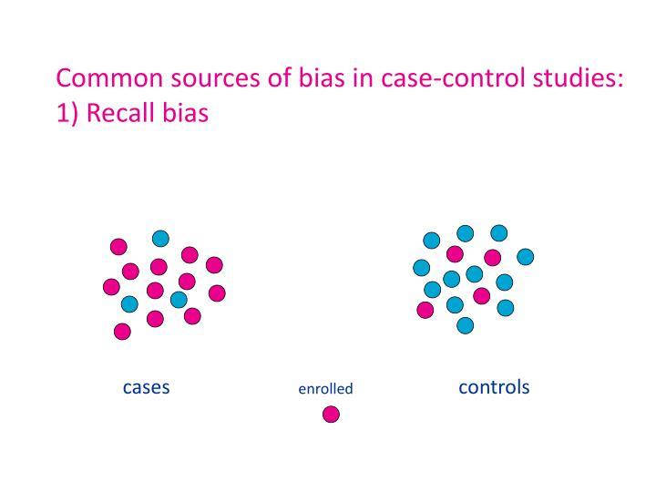 Common sources of bias in c