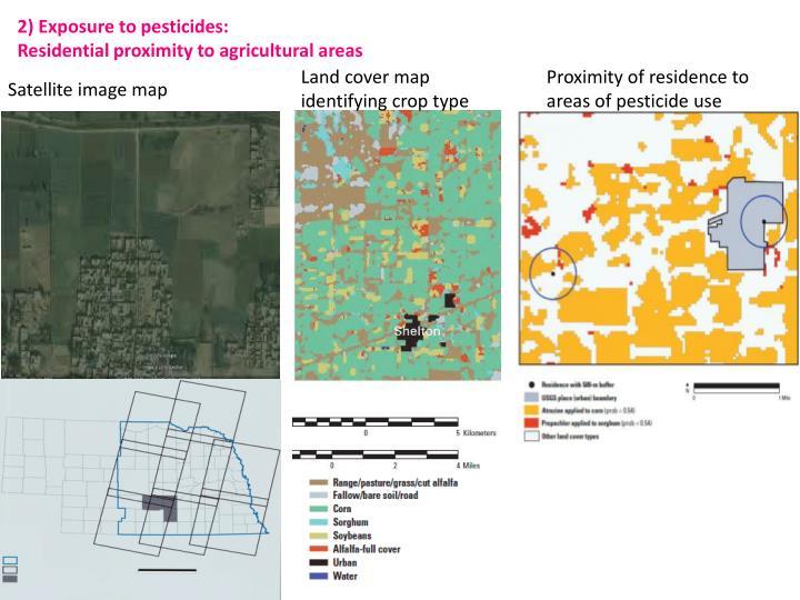 2) Exposure to pesticides: