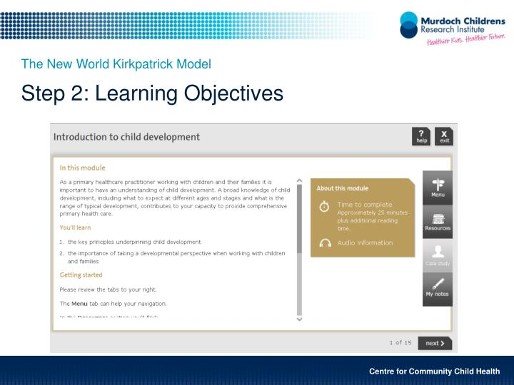 Step 2: Learning Objectives