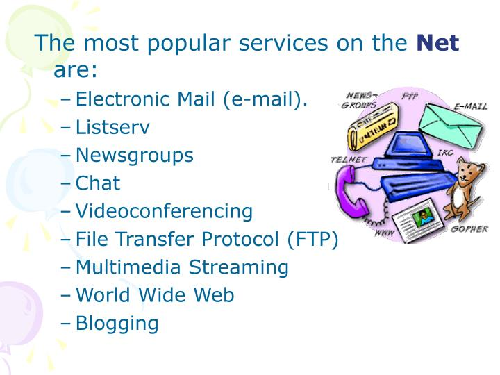 The most popular services on the