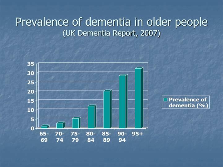 Prevalence of dementia in older people