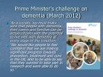 prime minister s challenge on dementia march 2012