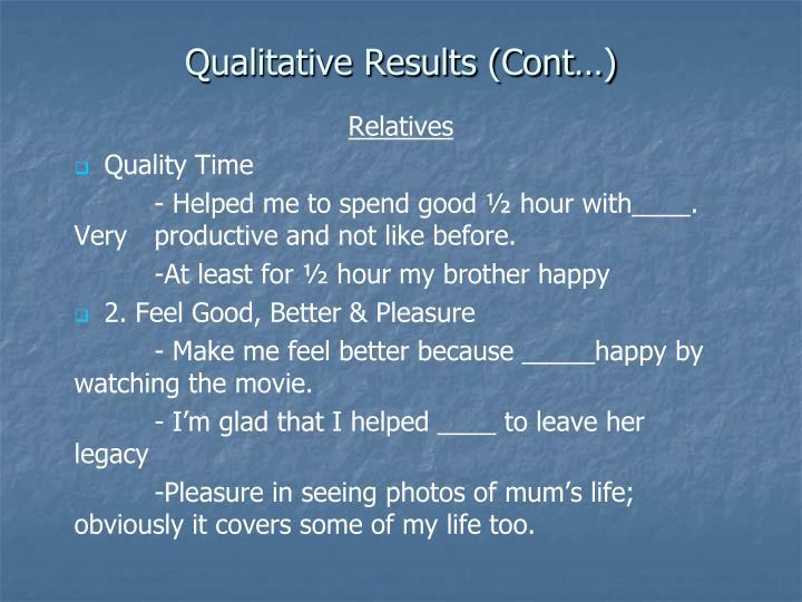 Qualitative Results (Cont…)