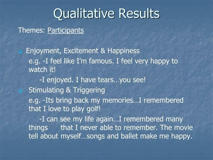 Qualitative Results