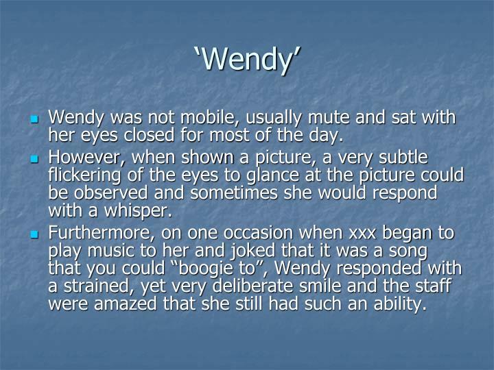 'Wendy'
