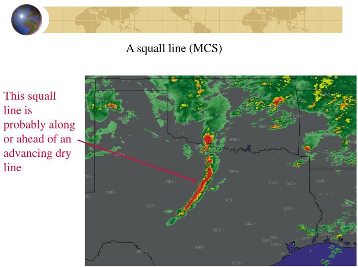 A squall line (MCS)