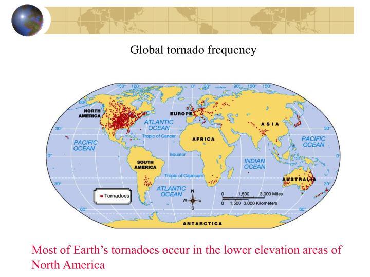 Global tornado frequency
