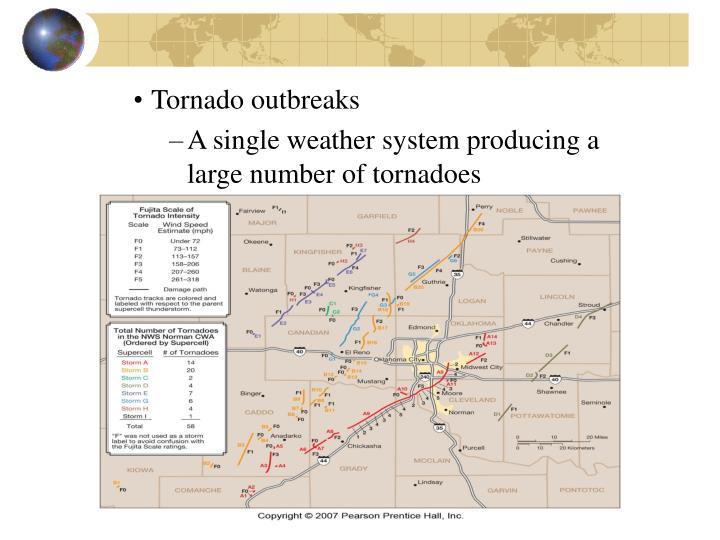 Tornado outbreaks