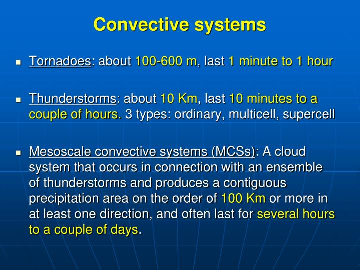 Convective systems