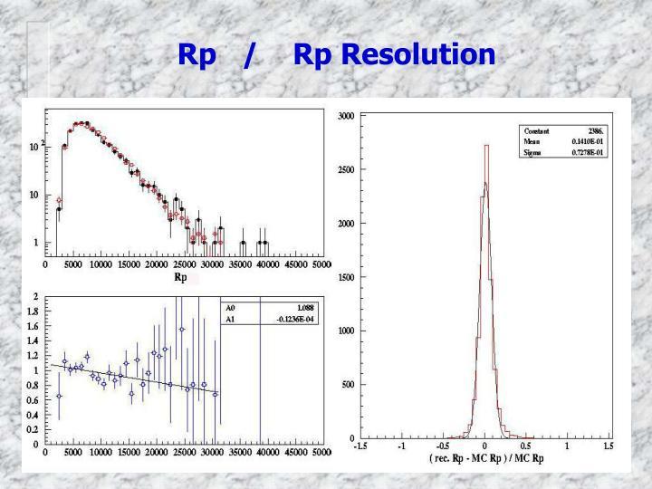 Rp   /    Rp Resolution