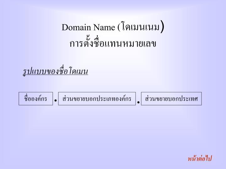 Domain Name (
