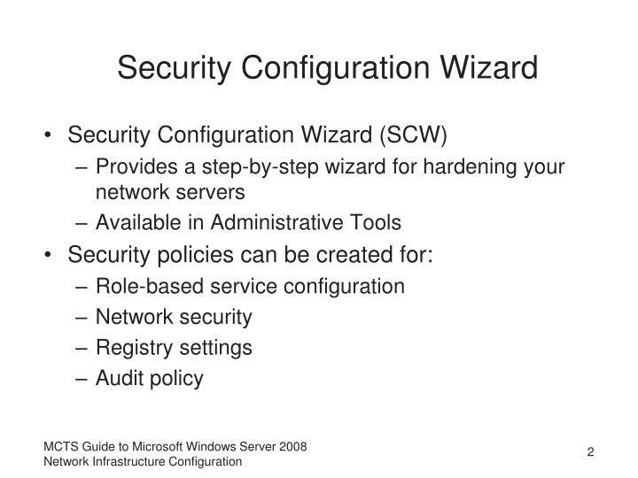 Security Configuration Wizard