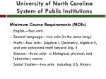 university of north carolina system of public institutions1