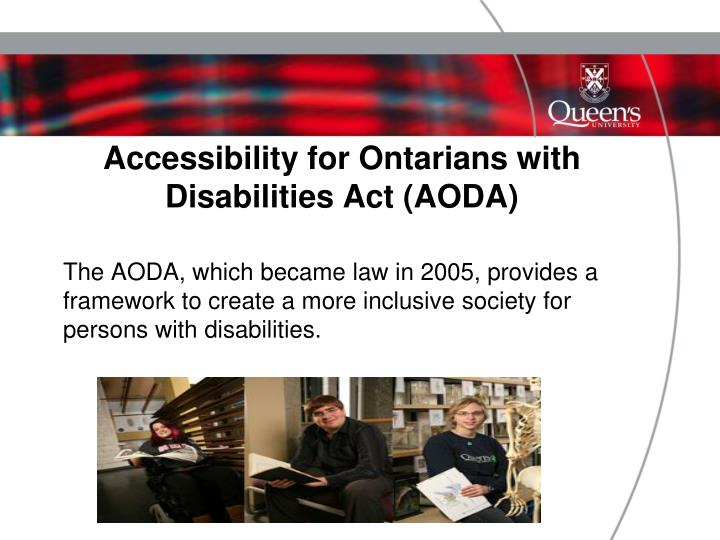 Accessibility for ontarians with disabilities act aoda