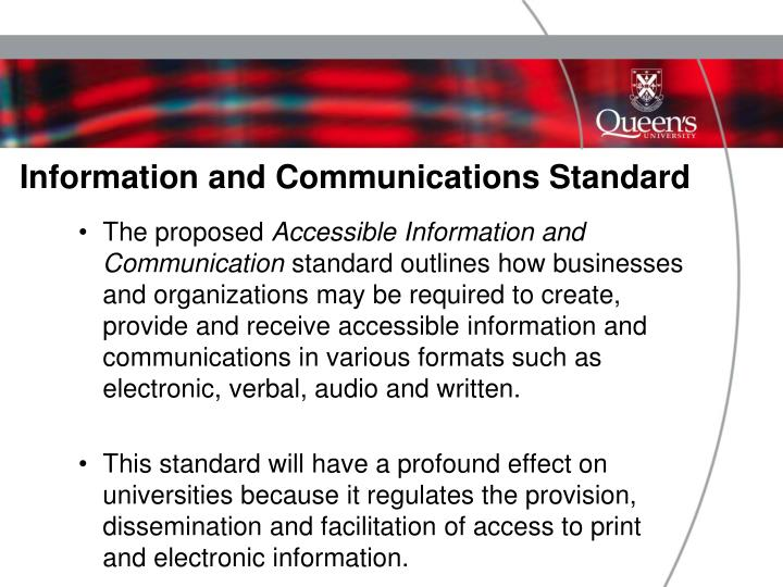 Information and Communications Standard