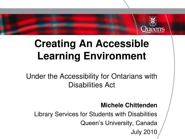 Creating An Accessible