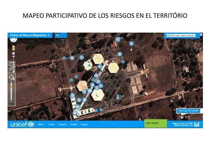 MAPEO PARTICIPATIVO DE LOS RIESGOS EN EL TERRITÓRIO