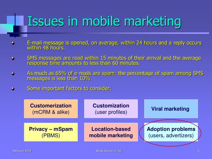 Issues in mobile marketing