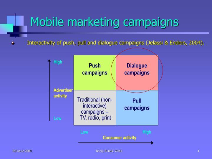 Mobile marketing campaigns