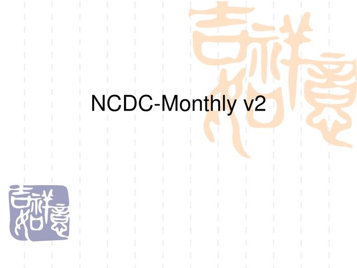 NCDC-Monthly v2
