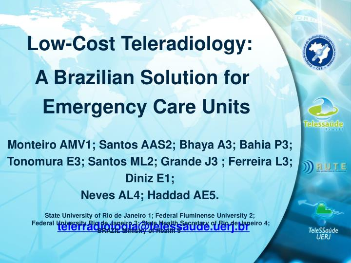 Low-Cost Teleradiology: