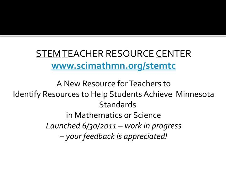 MATHEMATICS & SCIENCE FRAMEWORKS FOR MN STANDARDS