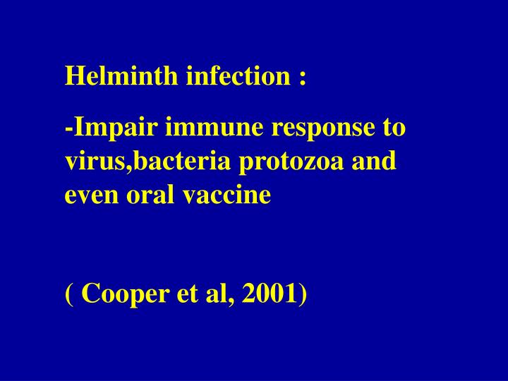 Helminth infection :