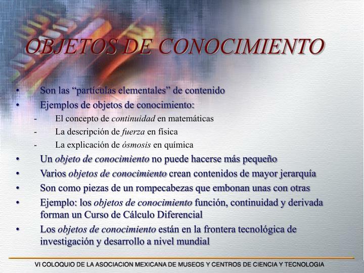 OBJETOS DE CONOCIMIENTO