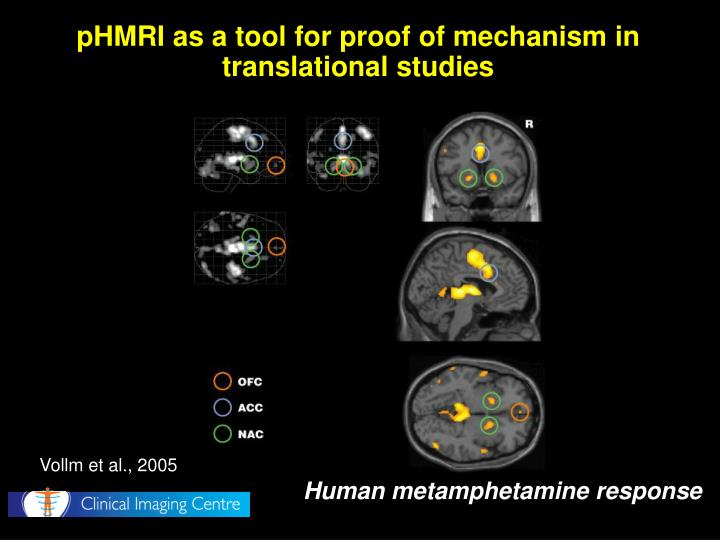 pHMRI as a tool for proof of mechanism in translational studies