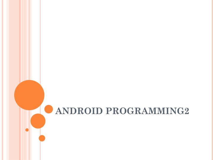 android programming2