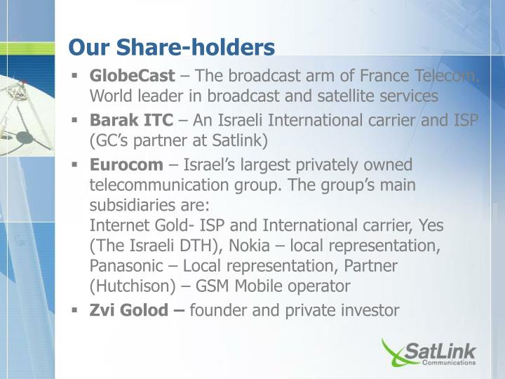 Our Share-holders