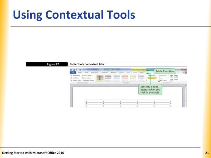 Using Contextual Tools
