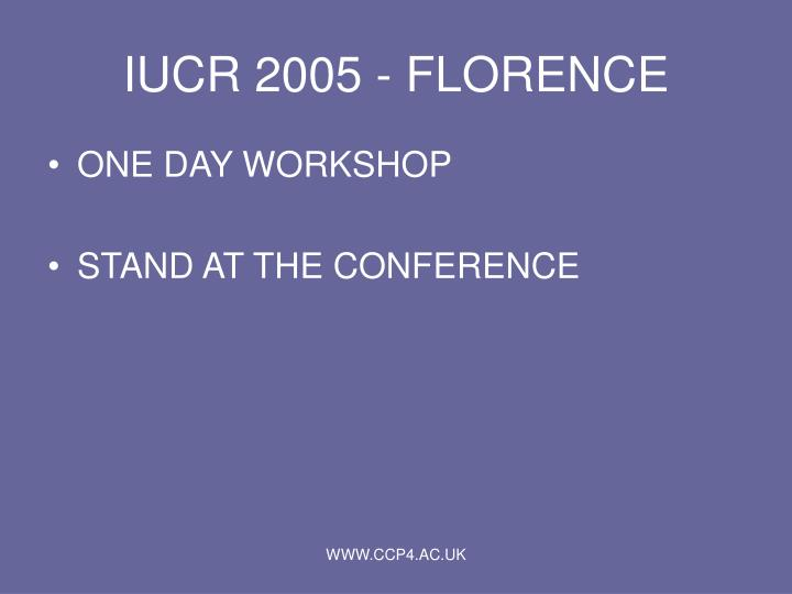 IUCR 2005 - FLORENCE