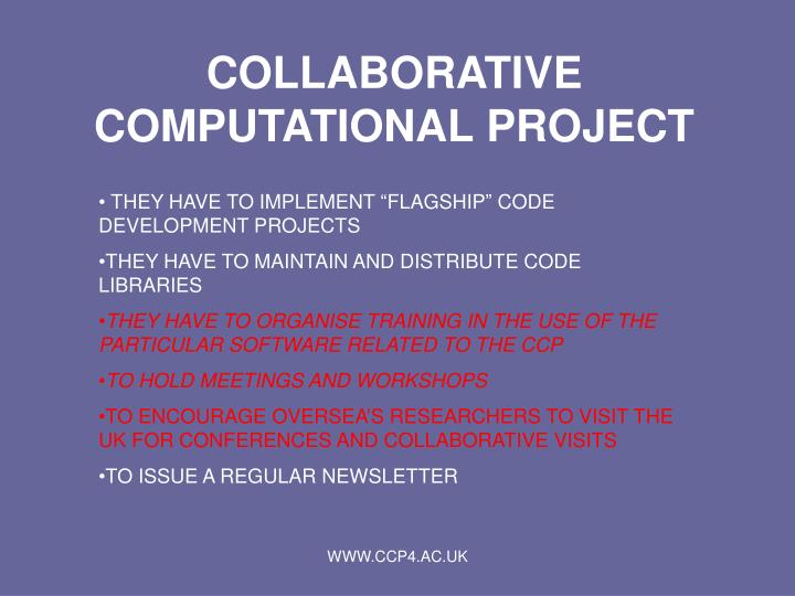 COLLABORATIVE COMPUTATIONAL PROJECT