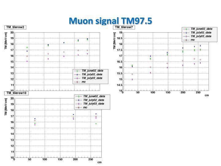 Muon signal TM97.5