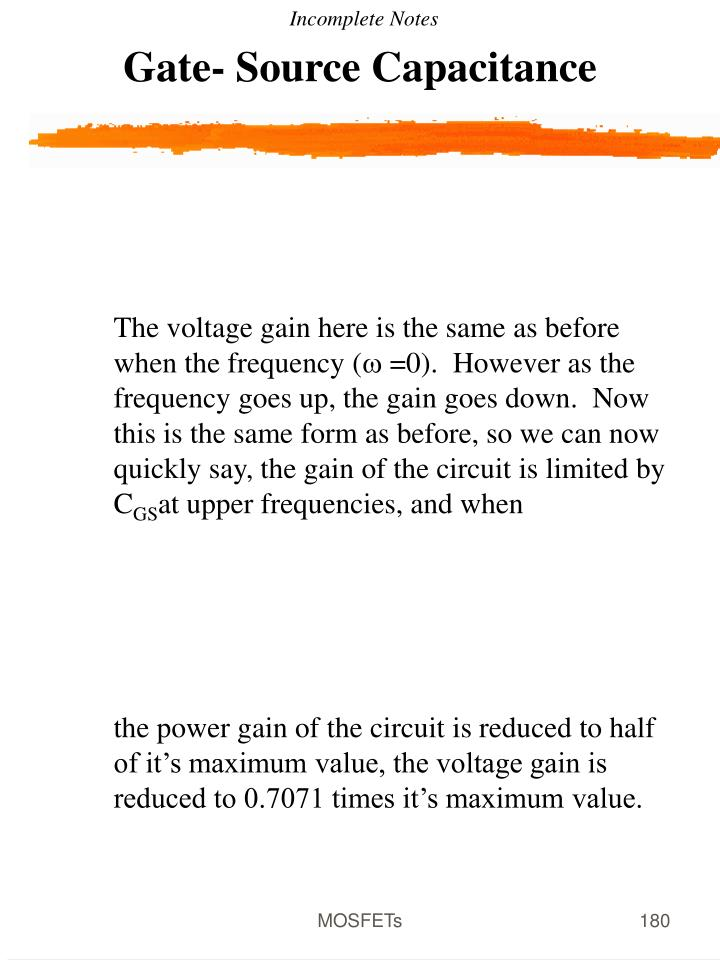 Gate- Source Capacitance