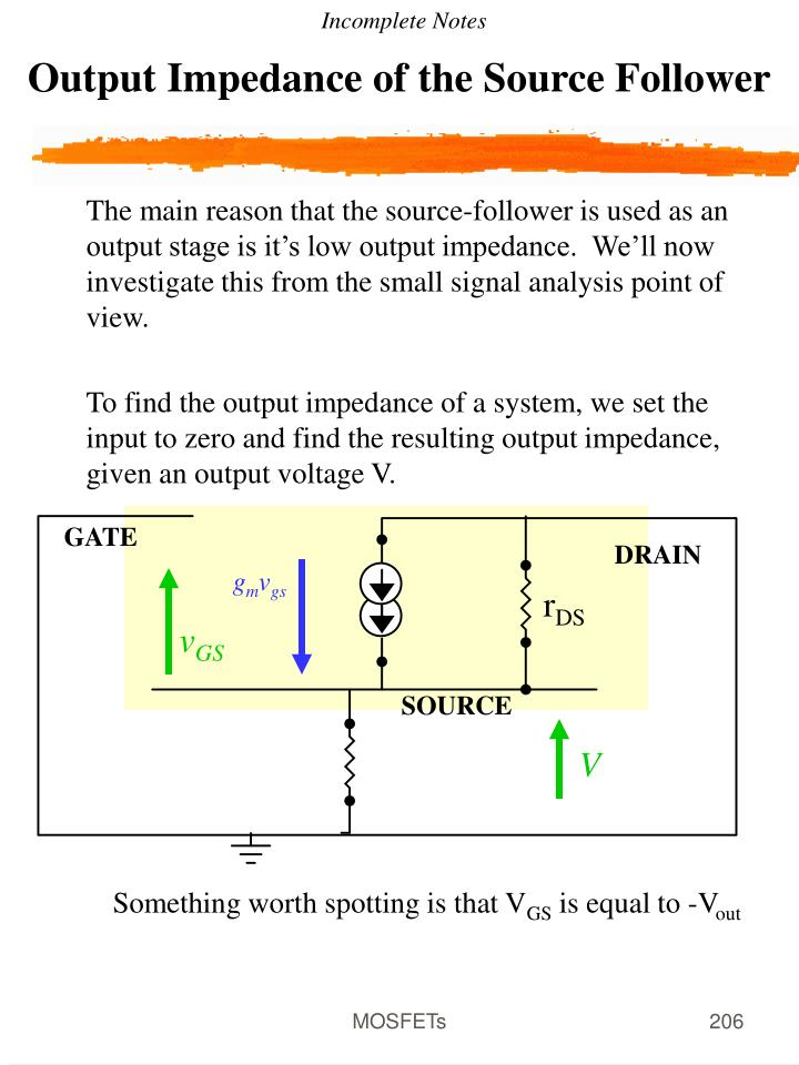 Output Impedance of the Source Follower