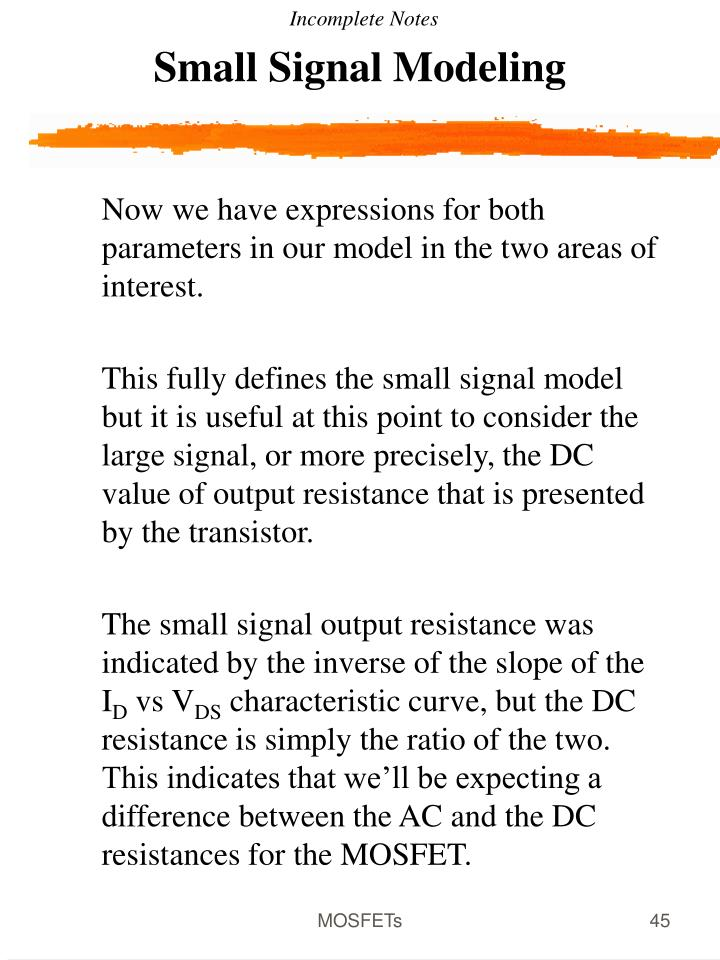 Small Signal Modeling
