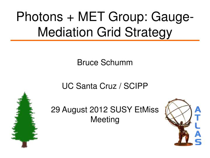 Photons met group gauge mediation grid strategy