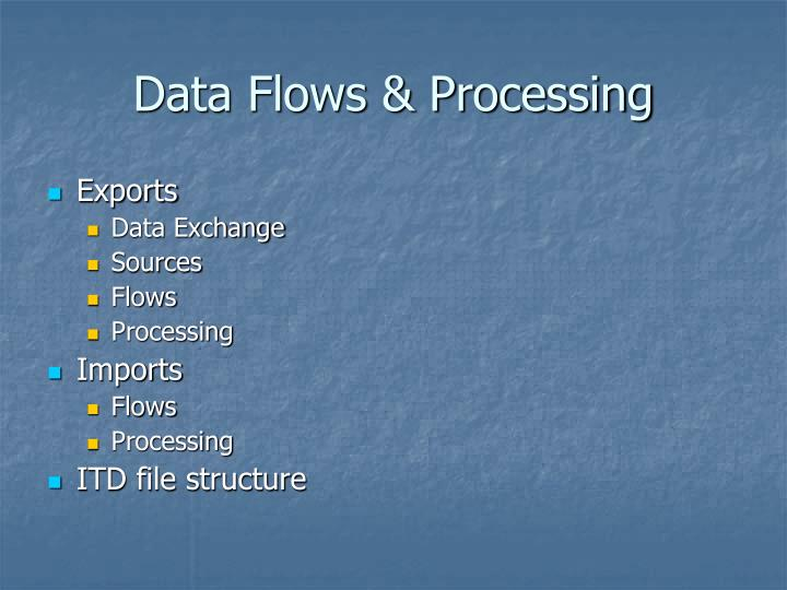 Data Flows & Processing