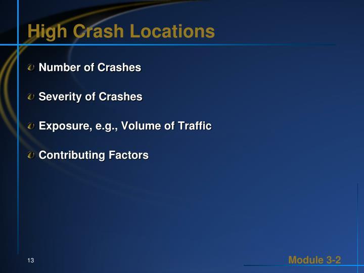 High Crash Locations
