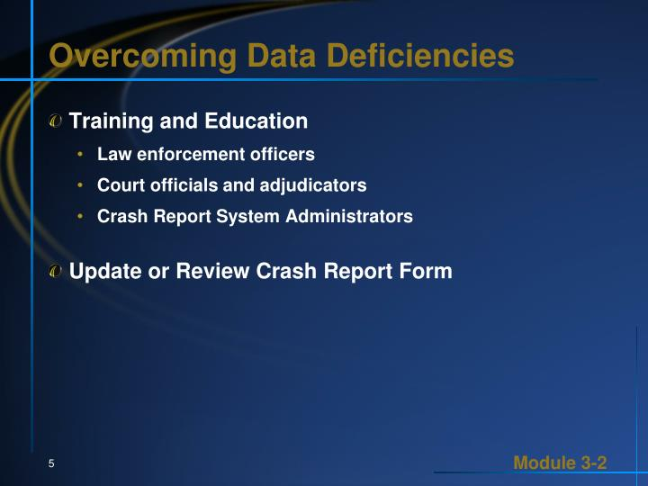 Overcoming Data Deficiencies