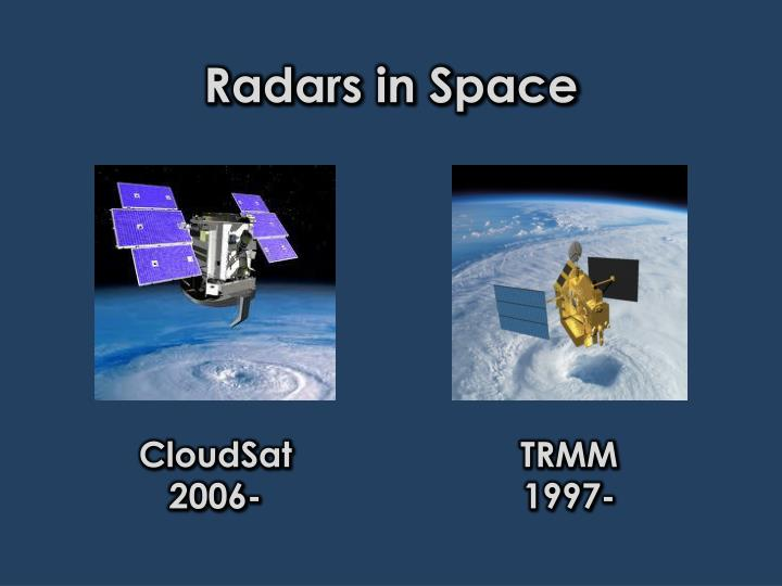 Radars in Space