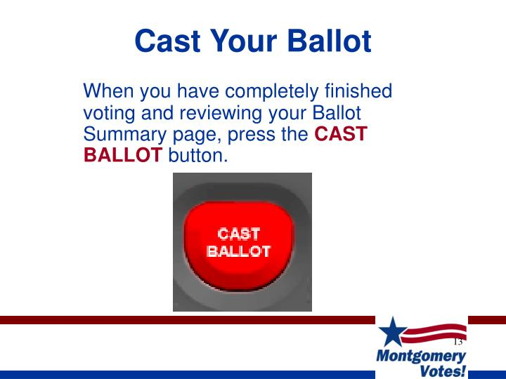 Cast Your Ballot