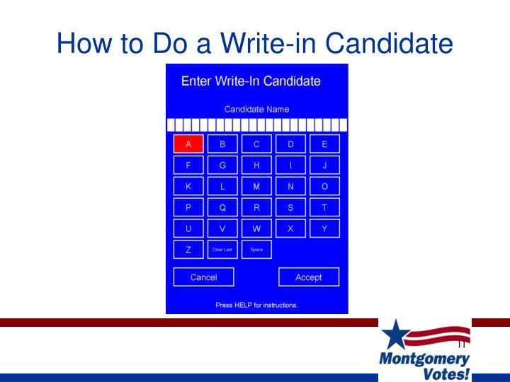 How to Do a Write-in Candidate