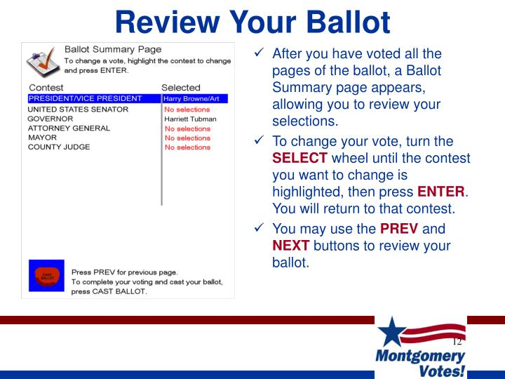 Review Your Ballot